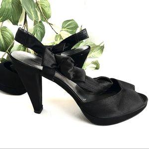 American Eagle Black Platform Heels Size 12